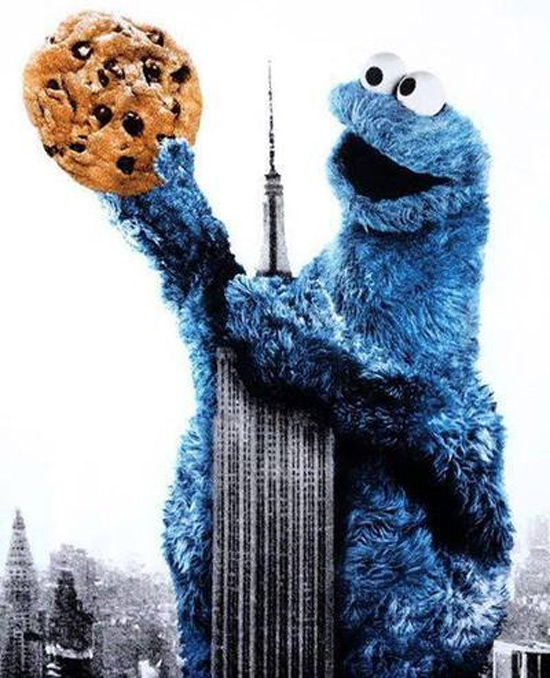 El monstruo de las galletas siembra el pánico