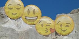 Emoticones en el monte Rushmore