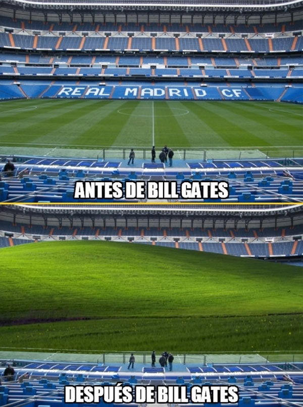 Estadio Santiago Bernabéu después de Bill Gates