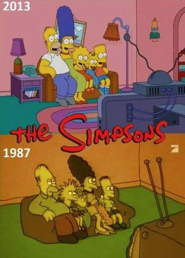 Evolución de Los Simpson