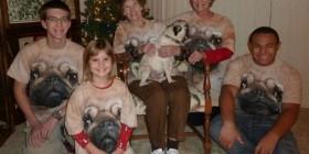 Familia amante de los pugs