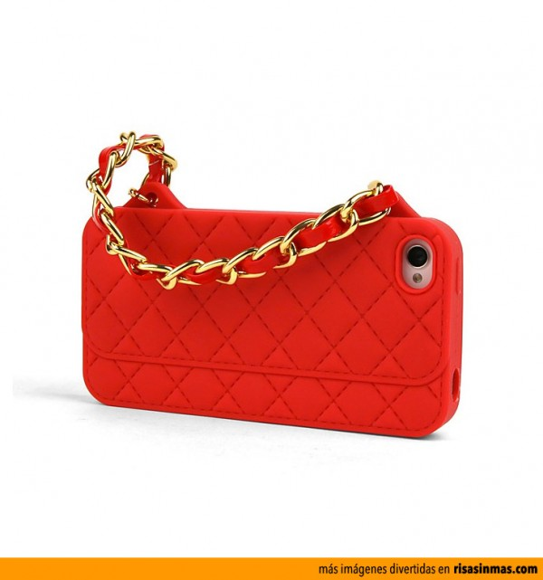 Funda iPhone 5 Bolso Chanel Rojo