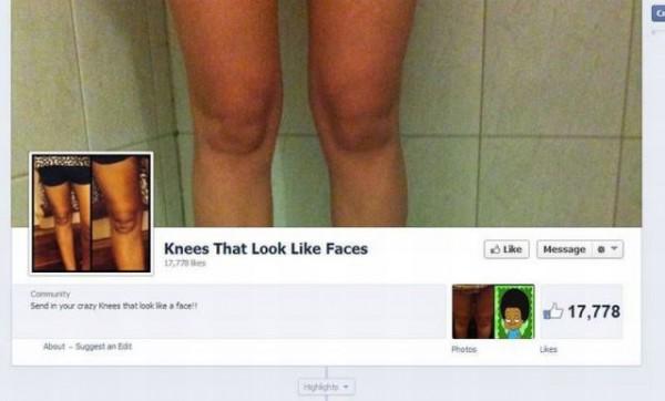 Rodillas con aspecto de caras