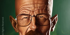 Caricatura de Heisenberg (Breaking Bad)