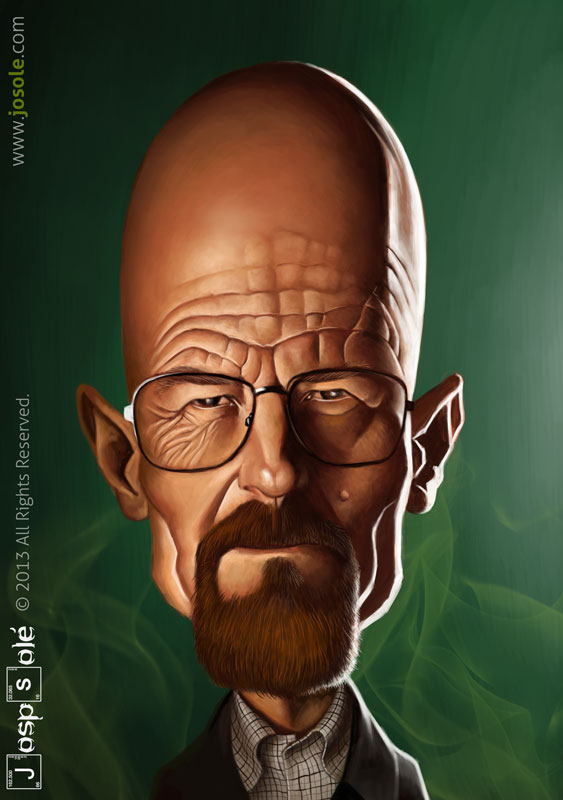 Caricatura de Heisenberg (Breaking Bad)