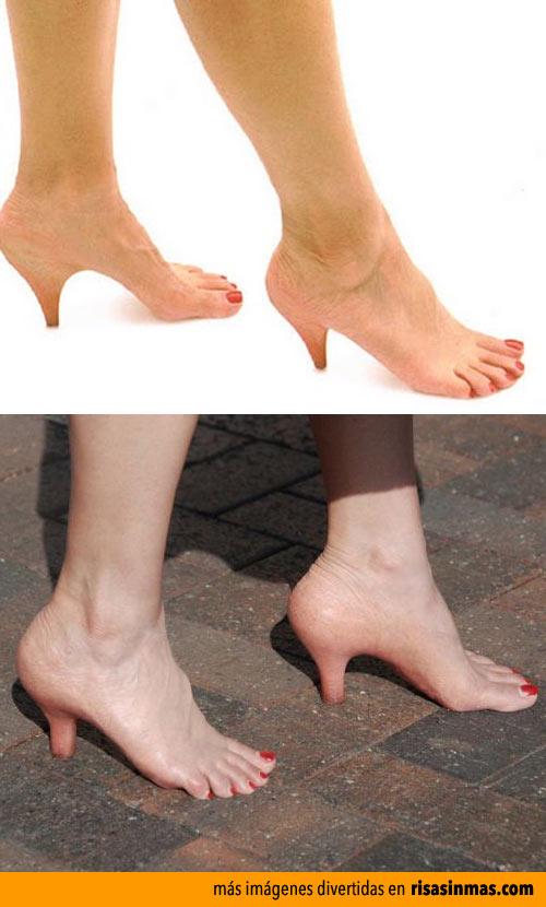 La nueva moda de zapatos de carne