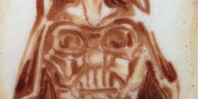 Latte Art: Darth Vader