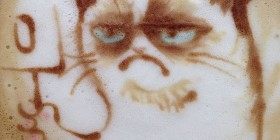 Latte Art: Grumpy Cat