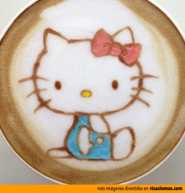 Latte Art: Hello Kitty