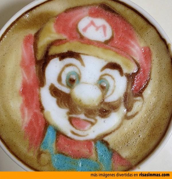 Latte Art: Mario Bros