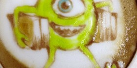 Latte Art: Mike Wazowski
