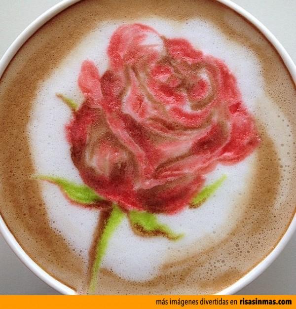 Latte Art: Rosa