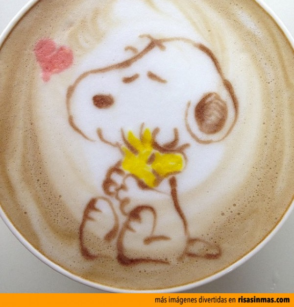 Latte Art: Snoopy