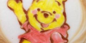 Latte Art: Winnie Pooh