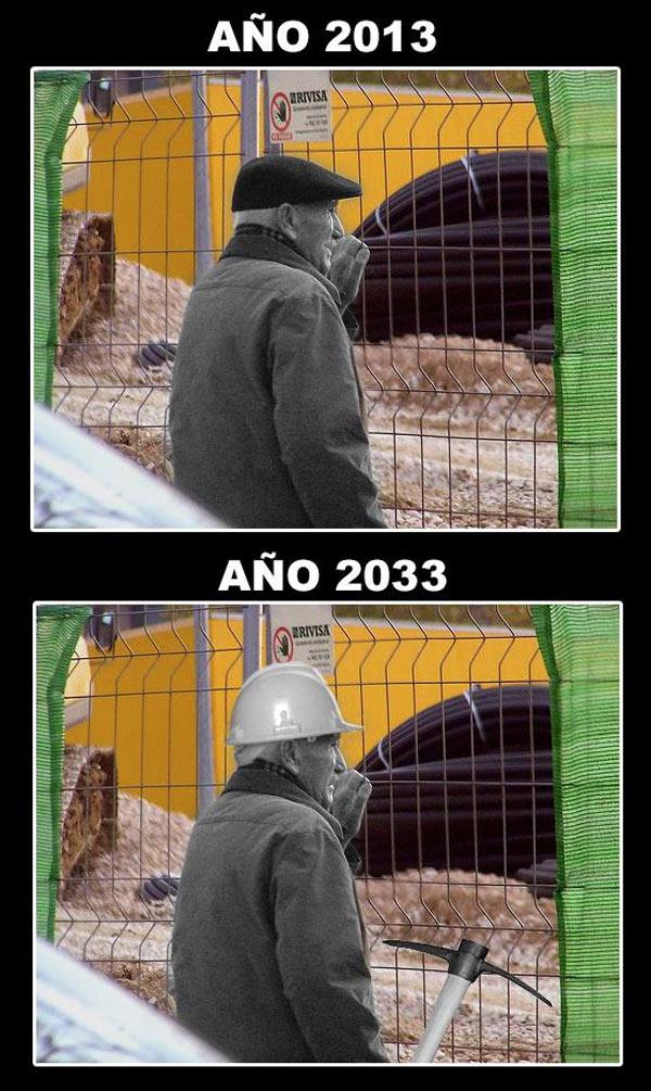 Los jubilados 2013 trabajadores en 2033