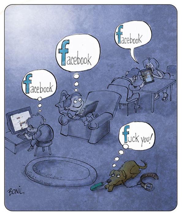 Los perros odian Facebook