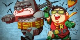 Los personajes de UP como Batman y Robin