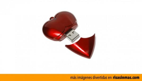 Memoria USB para enamorados