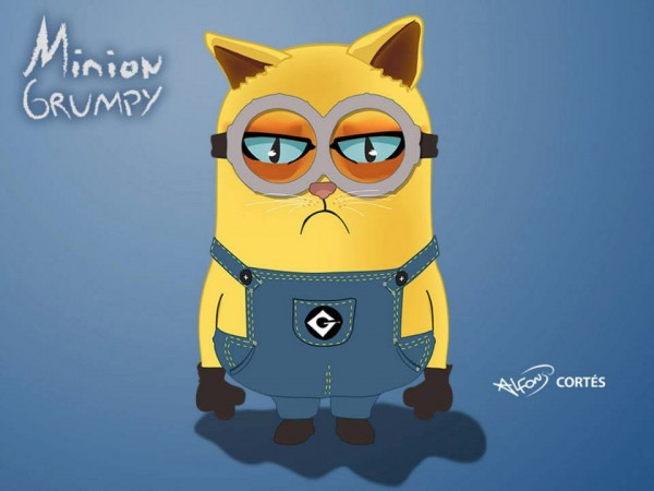 Minion Grumpy Cat