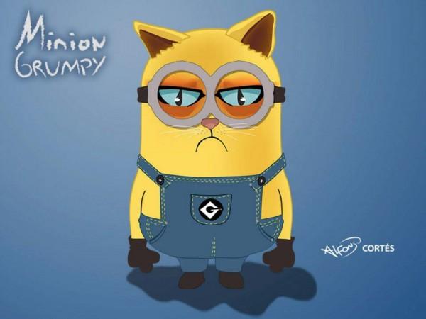 Minion Grumpy Cat