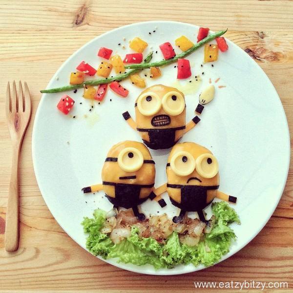 ¡Minions en mi plato!