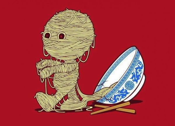 Momia de fideos