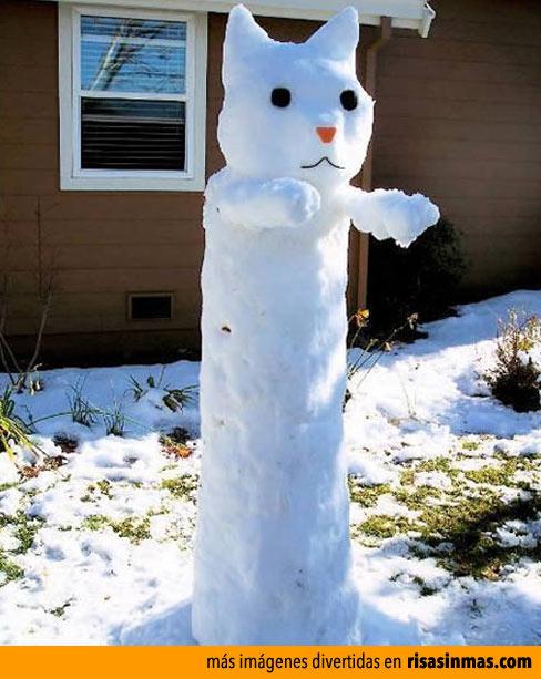 Muñecos de nieve divertidos: Gato