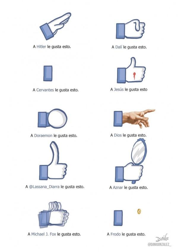Nuevos iconos Me gusta de Facebook