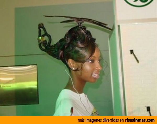 Peinado helicóptero