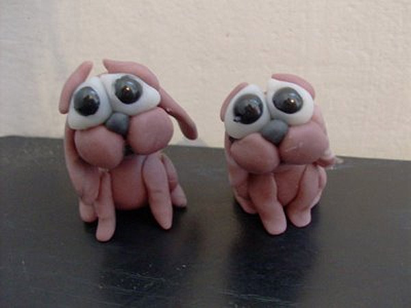 Perros de plastilina