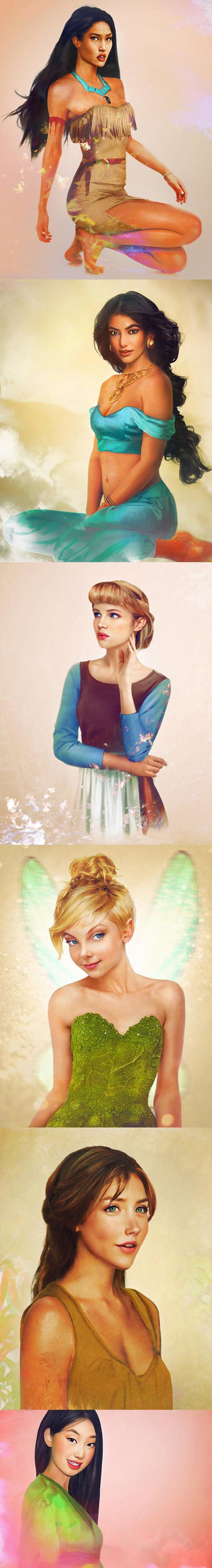 Personajes femeninos de Disney reales