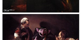 Pinturas clásicas con personajes de Barrio Sésamo