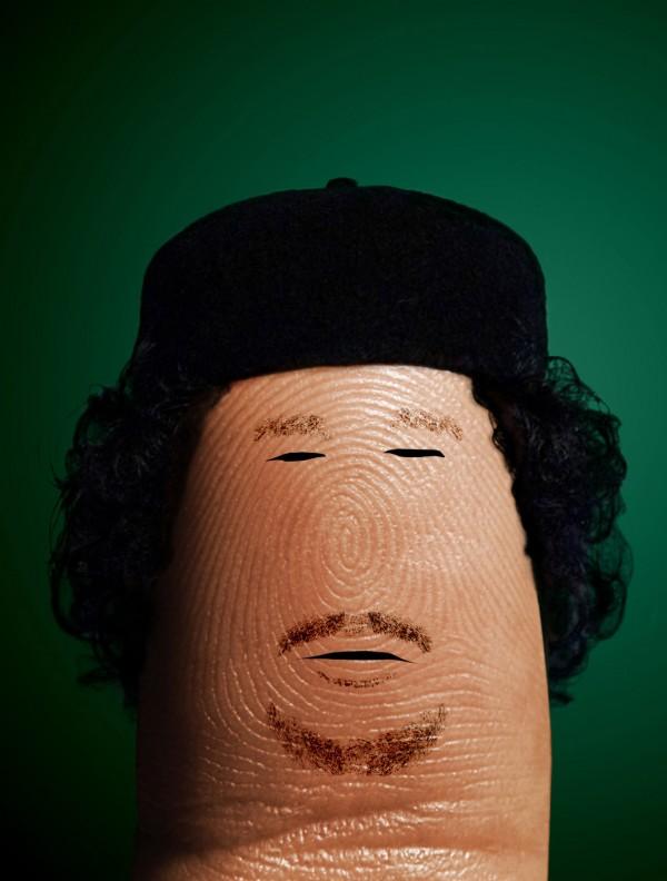Pulgares célebres: Muamar el Gadafi