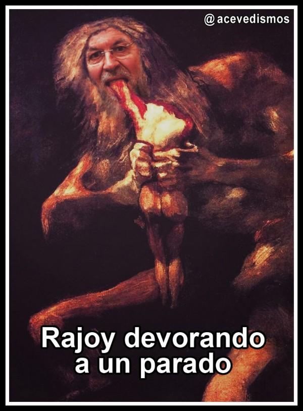 Rajoy devorando a un parado