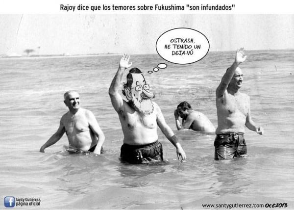 Rajoy en su visita a Fukushima