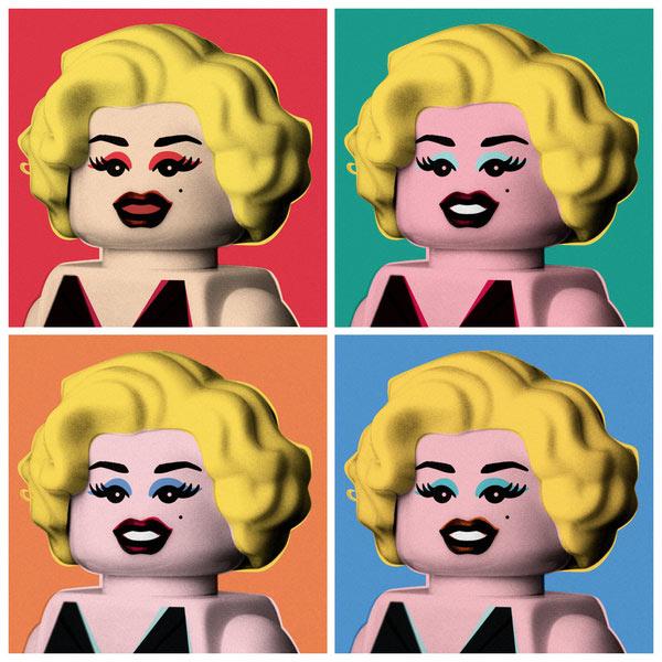 Retrato de Marilyn Monroe estilo Warhol