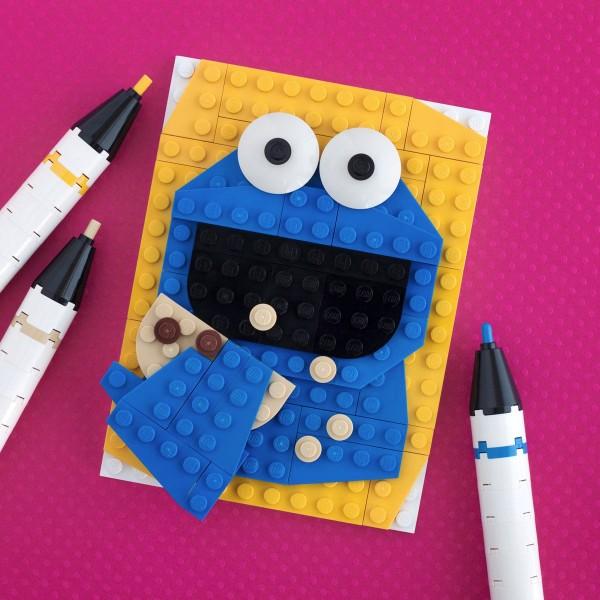 Retrato de Triky hecho con LEGO
