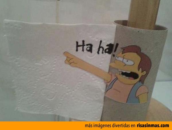 Se termina el papel higiénico y...