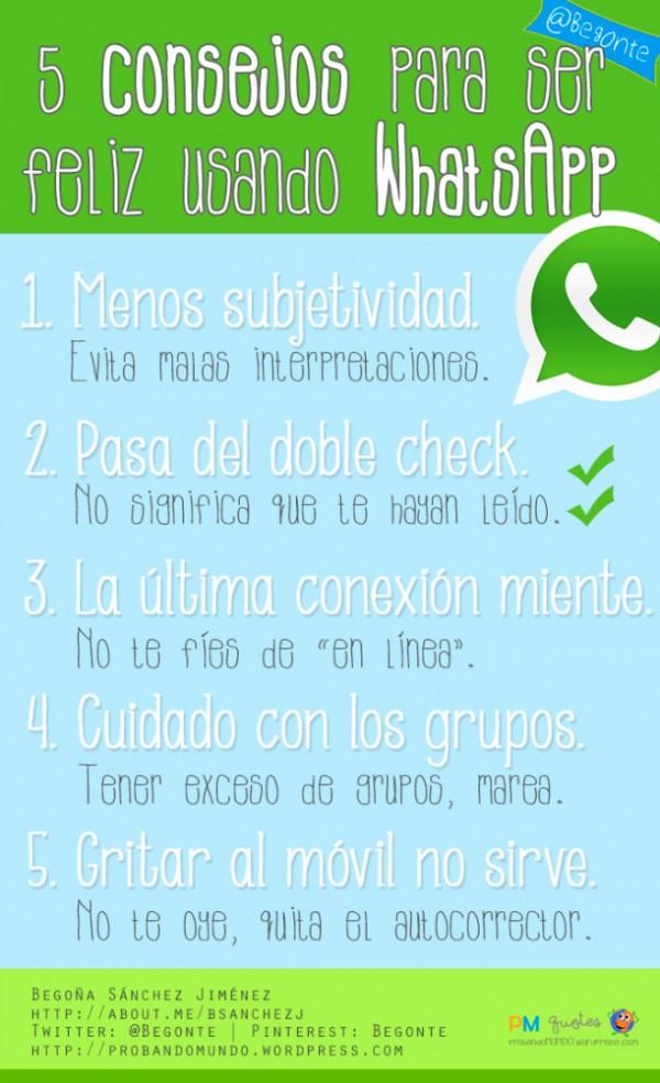 Ser feliz usando WhatsApp