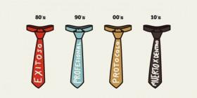 Significados generacionales de la corbata
