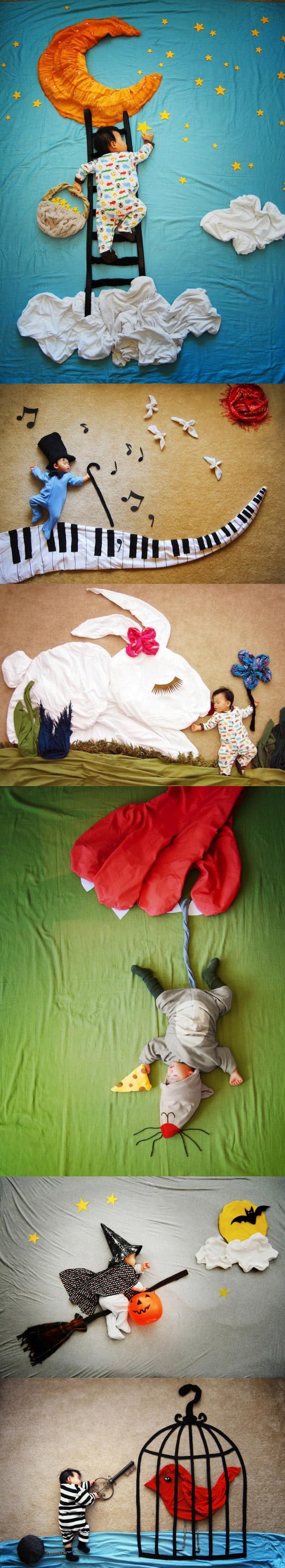 Sueños de bebé en forma de cuadros
