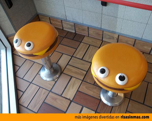 Taburetes hamburguesa