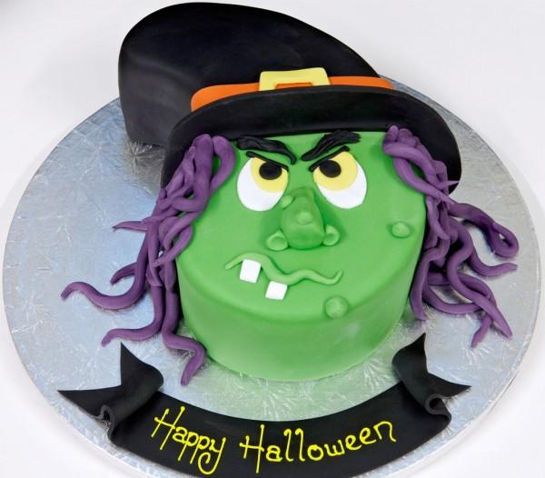 Tarta bruja de halloween