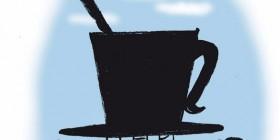 Un país de relaxing cup of café con leche