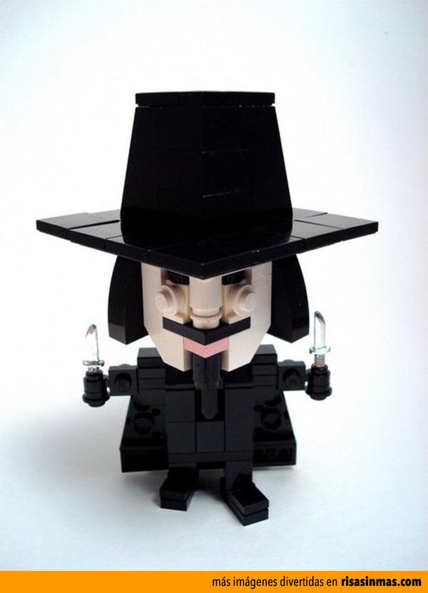 V de Vendetta hecho con LEGO