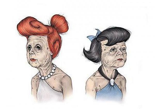 Wilma y Betty con unos años de más