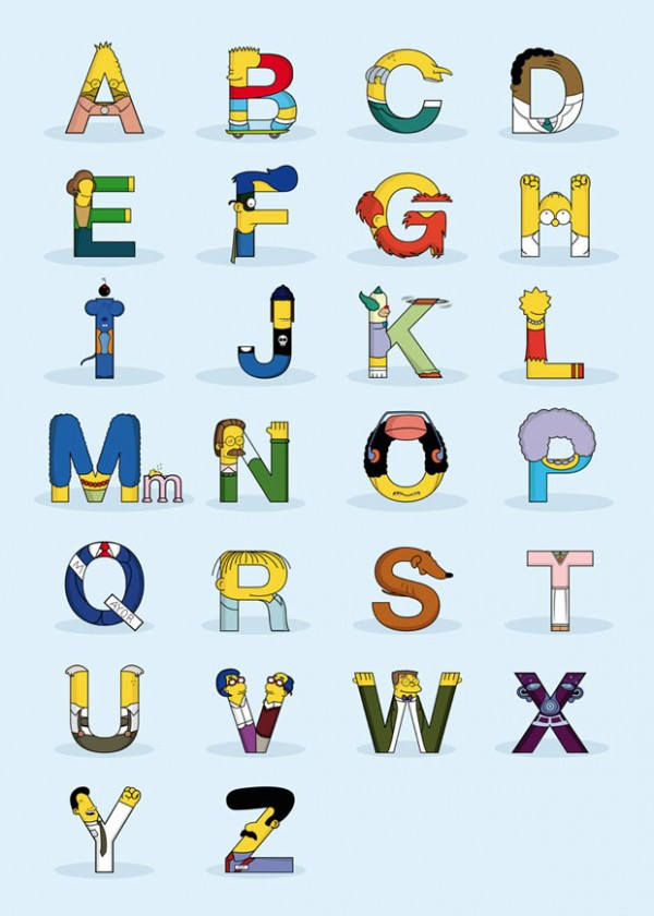 El alfabeto de los Simpson