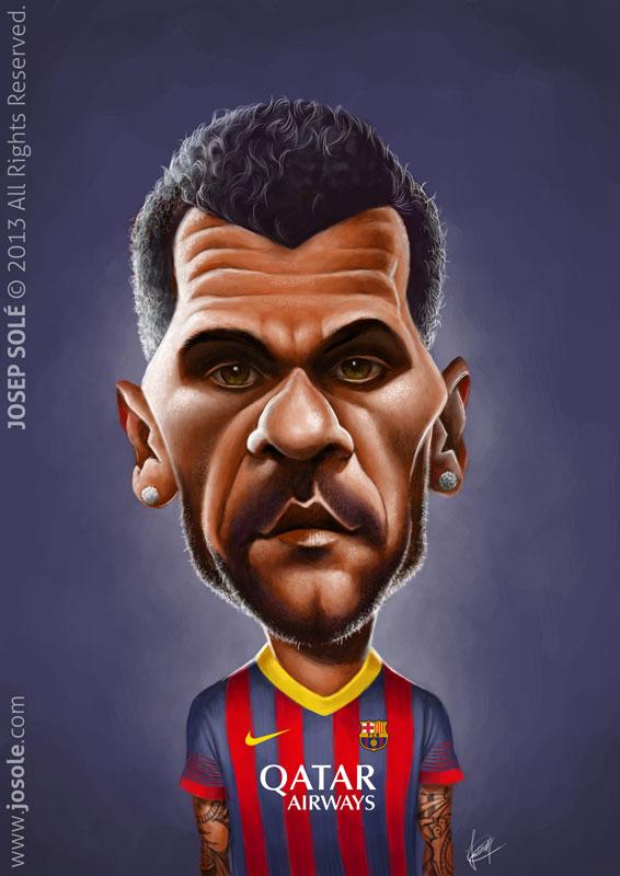 Caricatura de Dani Alves