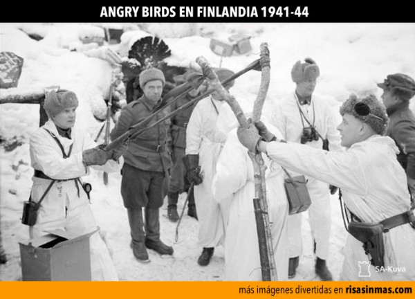 Angry birds en Finlandia 1941