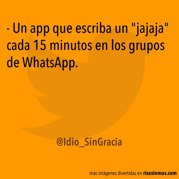 Una app para grupos de WhatsApp